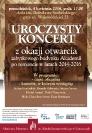 Koncert z okazji otwarcia zabytkowego budynku po remoncie - plakat_1